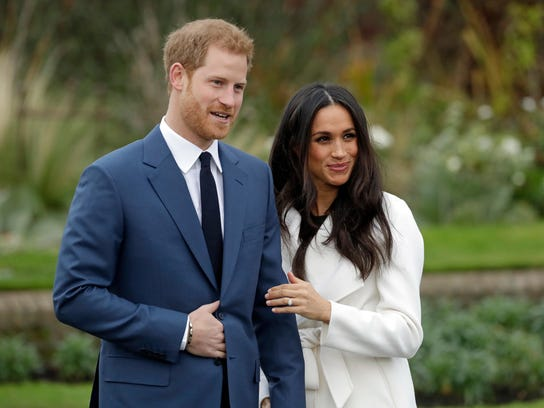 Britain's Prince Harry and his fiancee, Meghan Markle.
