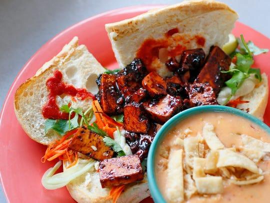 The tofu banh mi sandwich at Gateway Market.