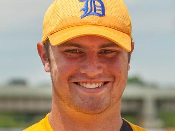 SEAN DEELY, pitcher/designated hitter, sr., Archmere, Co-Player of the Year, 6-0, 0.78 ERA, 50 K, 32 H, 25 BB, .360, 6 HR, 17 RBI, 11 runs