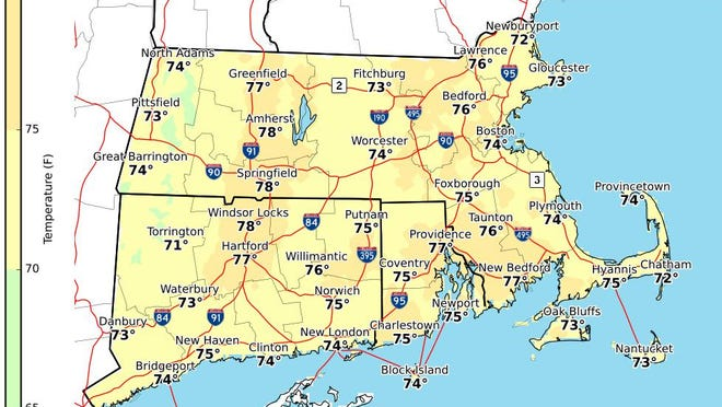 Afternoon highs for Sunday August 16.