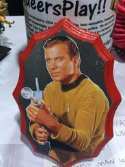 "A Captain Kirk of ""Star Trek"" portrait on wood from"