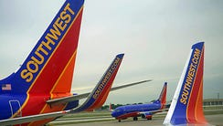 Southwest Airlines passenger planes are seen at Chicago's