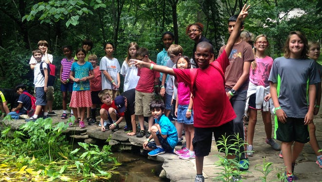 A past summer camp at Adventure Science Center.