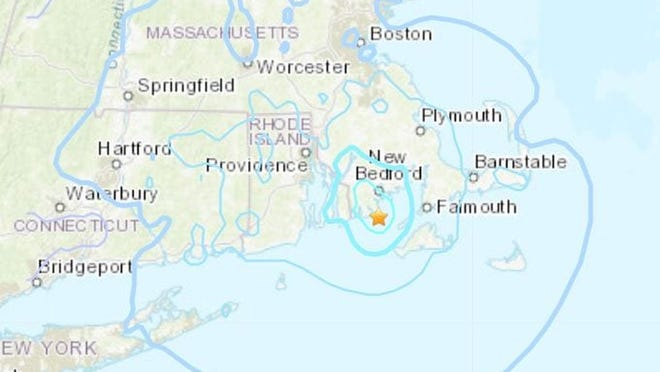 On Sunday evening, the American Red Cross in Darmouth reported that about 20 people have been displaced after their homes were damaged by the earthquake.