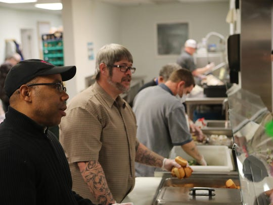 Gregory Cheadle volunteers recently at The Good News Rescue Mission.