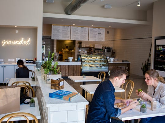 Rooted Juicery + Kitchen offers plant-based food and cold-pressed juices. All the food is made in the store.