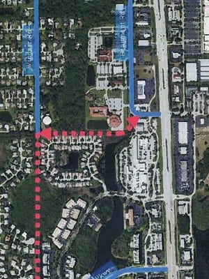 One example of a way around the U.S 41/Bonita Beach road intersection is the construction of two access roads to bring traffic down River Park Extension and over a new access road to Windsor Road, avoiding the trouble intersection entirely.