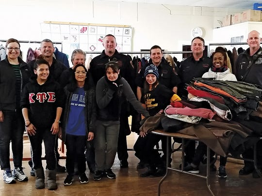 The Clifton Firefighters FMBA 21 after their 2015 annual coat drive. The coats were collected at city firehouses, laundered by Deluxe Cleaners on Main Avenue and Saveway Cleaners on Allwood Road, and delivered to St. Peter's Haven.