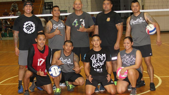 The Guam Army National's Guard's 1st-294th Infantry Regiment (Team Battalion) took first place in the 2015 TAG Cup Volleyball Tournament June 19 at the University of Guam Calvo Field House.