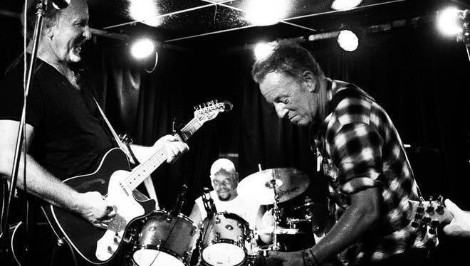 Joe Grushecky and Bruce Springsteen at the Wonder Bar.