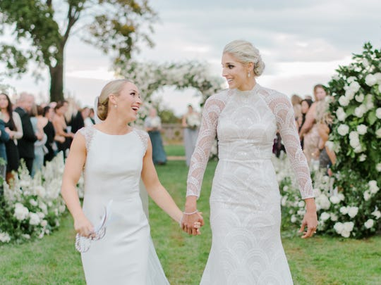 Elena Delle Donne and Amanda Clifton were married Nov. 3 at Hempstead House on Long Island.