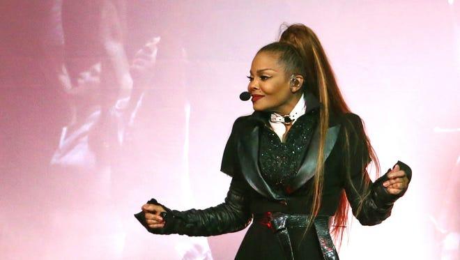 Janet Jackson performs at talking Stick Resort Arena in Phoenix on September 21, 2017.