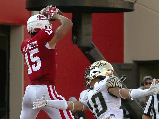 FILE – IU receiver Nick Westbrook was injured in the