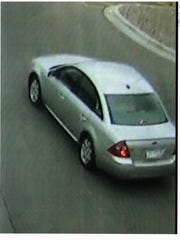 Police say this was the suspected purse thief's getaway car at one recent incident.