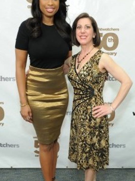 Maria Brydels, right, recently attended a dedication ceremony for the Jean Nidetch Center in New York, where she met WeightWatchers spokesperson Jennifer Hudson. Nidetch founded WeightWatchers 50 years ago.