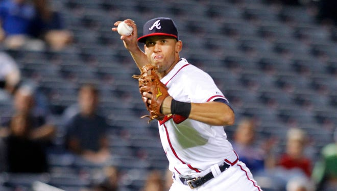 Shortstop Andrelton Simmons won a pair of Gold Gloves in his four seasons with the Atlanta Braves.