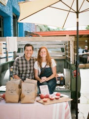 Jessica and Stephen Rose will drive The Peach Truck from the Pearson Farm in Fort Valley, Georgia, to several locations in the area in June and July to sell fresh-from-the-farm Georgia peaches.