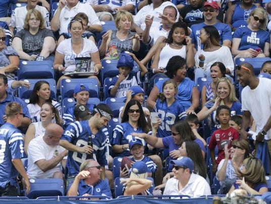 Where do Indianapolis Colts fans rank in terms of loyalty?