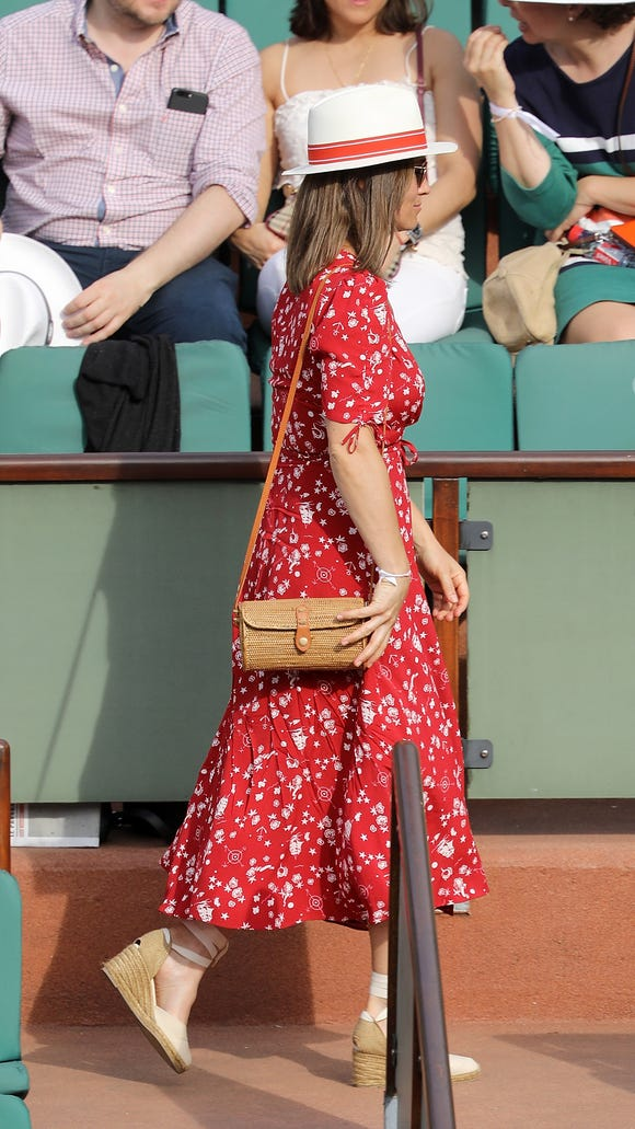 Pippa Middleton wore a red Ralph Lauren dress to the
