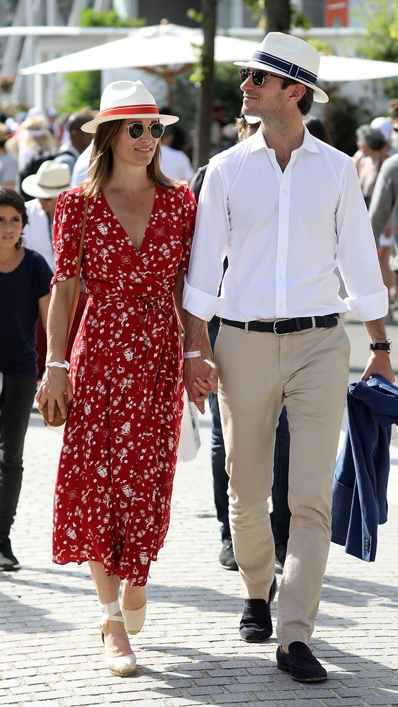 A coordinating couple! Pippa Middleton and husband