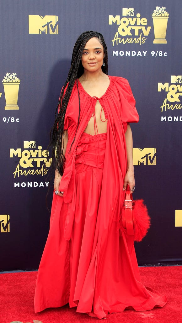 Actress Tessa Thompson perfectly coordinated with her