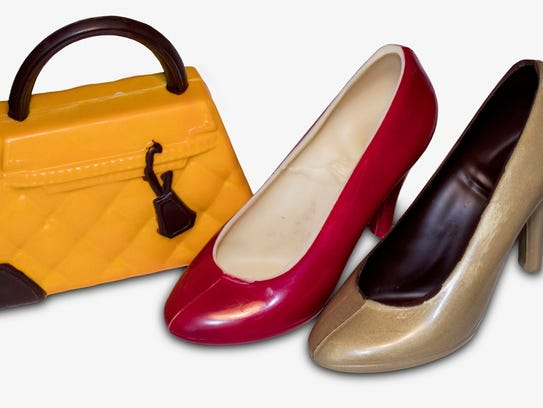 Chocoolate shoes or chocolate bag for Valentine's Day