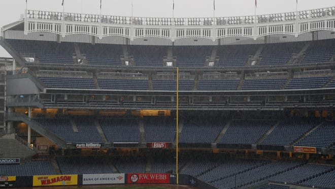 The MLB regular season could start in parks like Yankee Stadium without fans by June under the latest discussed plan. Yankees and Mets would be placed in one of three 10-team divisions.