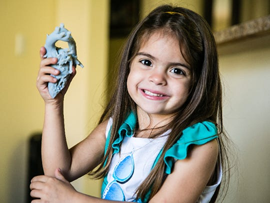 Five-year-old Mia Gonzalez suffered from a rare heart