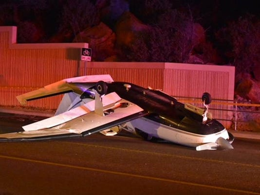 Small aircraft low on fuel makes emergency landing on Iron Springs Road in Prescott