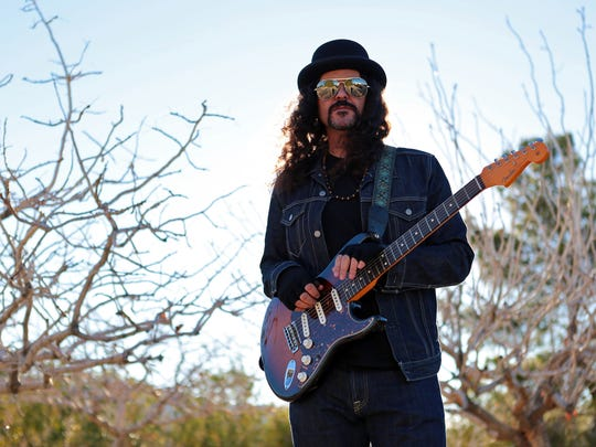 Former Kyuss drummer Brant Bjork will perform as Brant Bjork & the Low Desert Punk Band on Fridays April 10 and April 17 during the 2015 Coachella Valley Music and Arts Festival. Bjork is seen here outside his home in Joshua Tree, Calif., on Jan. 13, 2015.