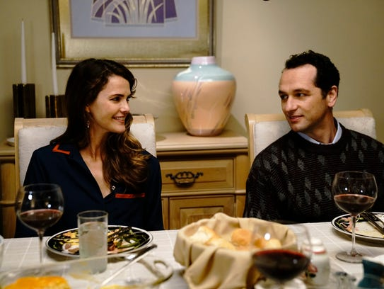 Keri Russell as Elizabeth Jennings, Matthew Rhys as Philip Jennings aren't all smiles in the final season of FX's 'The Americans.'
