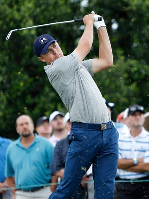 Jordan Spieth is three shots off the lead at the AT&T Byron Nelson.