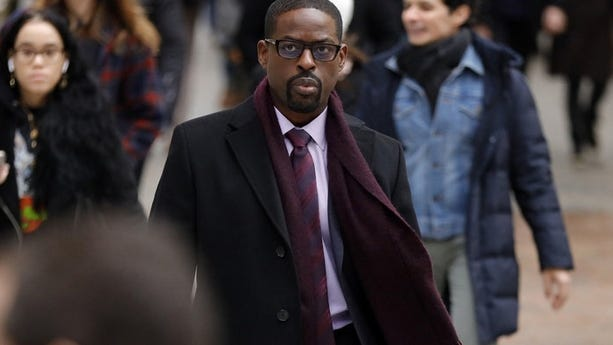 "Sterling K. Brown in a scene from ""This Is Us."" Season five debuts Tuesday and will address the pandemic and Black Lives Matter movement."