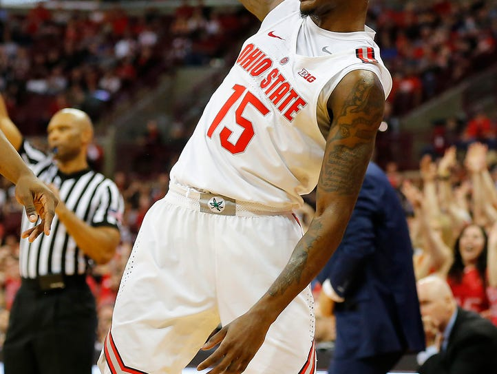 Feb. 20: Ohio State guard Kam Williams reacts to a