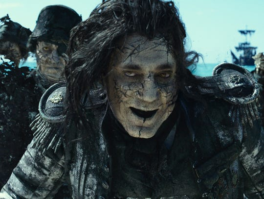 The villainous Captain Salazar (Javier Bardem) leads