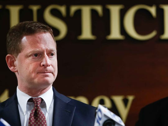 Delaware Attorney General Matt Denn attends a press conference on Jan. 12, 2015. His office last week released a report into the shooting of Jeremy McDole by Wilmington police.
