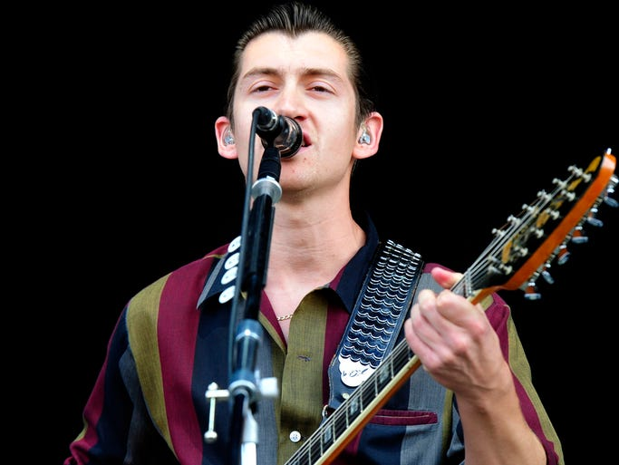 Arctic Monkeys at the Bonnaroo Music  & Arts Festival on Sunday, June 15, in Manchester, Tenn.