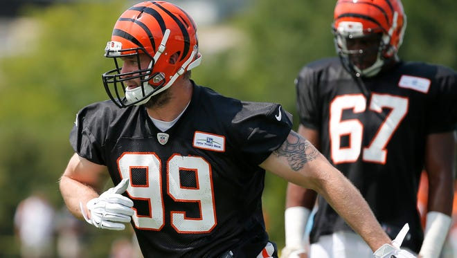 Cincinnati Bengals defensive end Margus Hunt was removed from the physically unable to perform list and participated training camp on Tuesday.