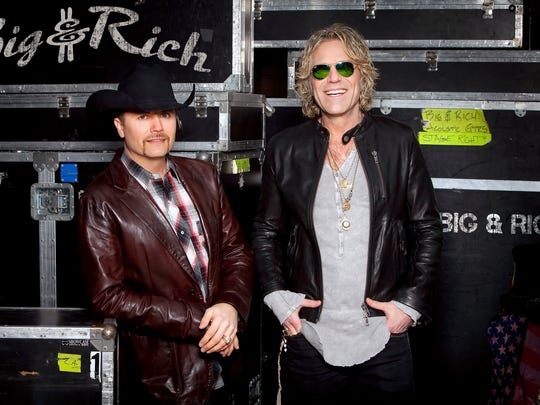 John Rich, left, and Big Kenny are the country duo Big & Rich, among the performers at FireFest on July 30.