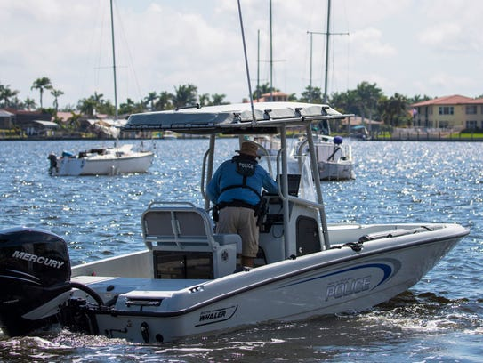 A member of the Cape Coral Police Department's marine