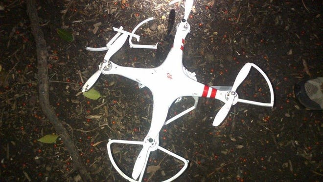 A drone crashed in Jan. 27, 2015, on the White House grounds after the operator lost control of the small, remote-controlled aircraft. Two more operators were cited Friday after their drone crashed on the Ellipse near the White House.