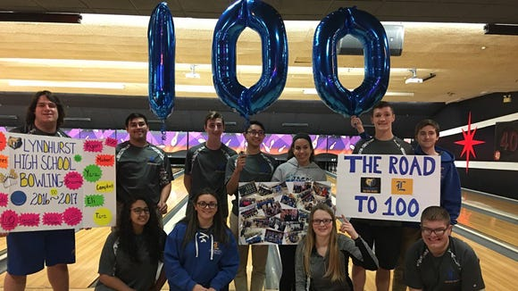 En route to winning its sixth straight NJIC Meadowlands title, the Lyndhurst bowling team eclipsed 100 consecutive match wins this winter.