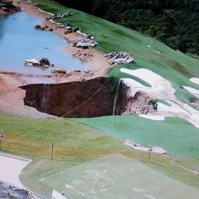 Sinkhole at Top of the Rock