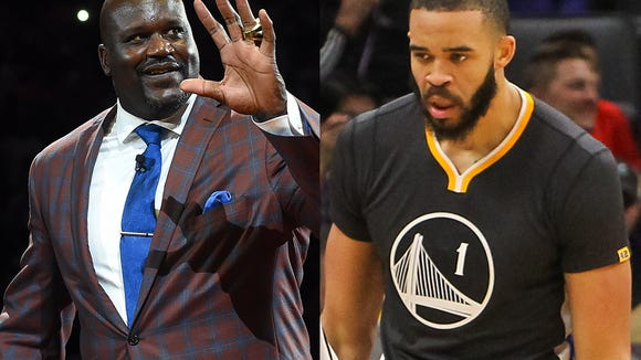 JaVale McGee and Shaquille O'Neal