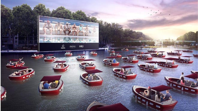 A floating cinema originally planned to make several stops in Cincinnati, but has since canceled all U.S. dates.