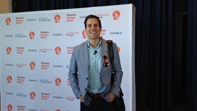 Ryan Bartos, managing director of Savills Studley, a commercial real estate firm, discussed how millennials impact office-space design and decision making for businesses at a Phoenix Startup Week event on Feb. 25, 2015.