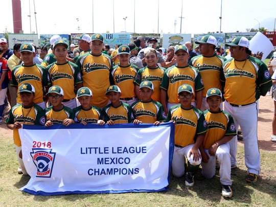 Liga Pequeña Matamoros representa a México en la Serie