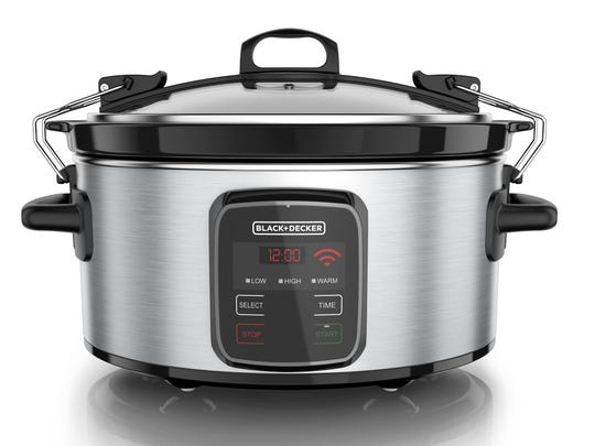 With this Wi-Fi-enabled slow cooker, you can control the cooking process remotely from your phone.