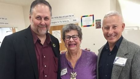 Mark Van Dyke, chief of staff to Lt. Gov. John Sanchez, poses for a photo with Ana Mae Evans, former president Doña Ana County Federated Republican Women, and Brig. Gen. Andrew Salas, candidate for New Mexico's 2nd Congressional District.