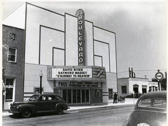 Boulevard Theater, downtown Salisbury, circa 1946.